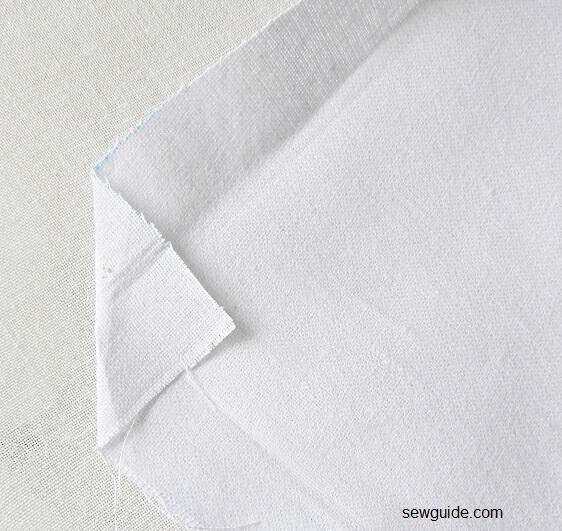 sewing a bedsheet