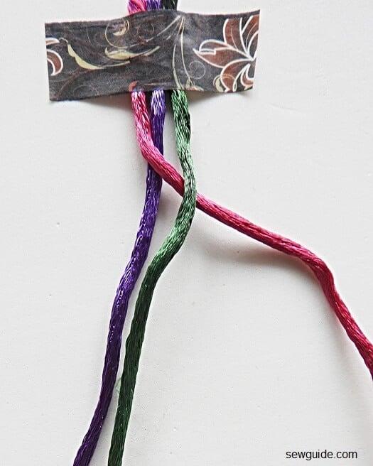 How to make a 3 strand braid : 2 ways