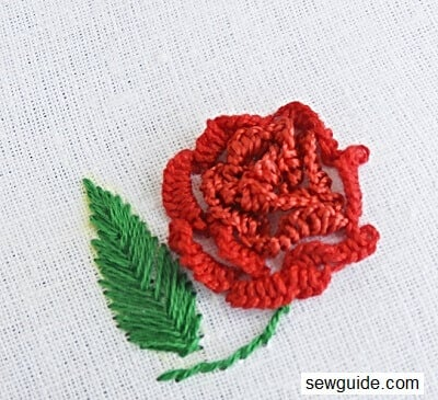 cast on stitch for 3 d embroidery