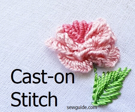 Cast on Embroidery Stitch