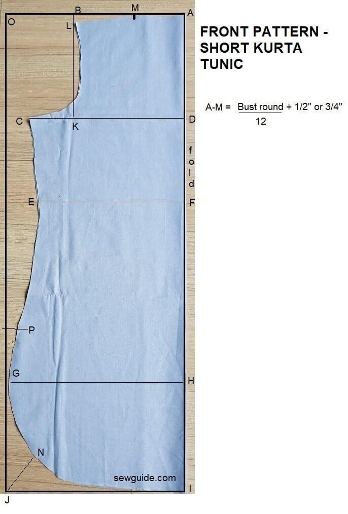 kurta tunic top sewing pattern