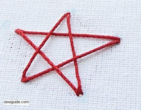 Star Embroidery Stitch : 7 ways