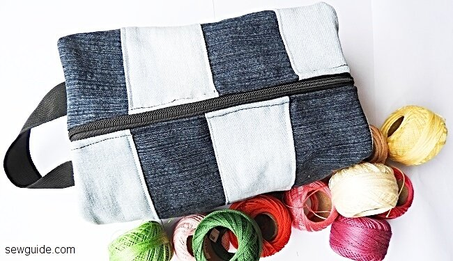 boxy pouch - old jeans recycle