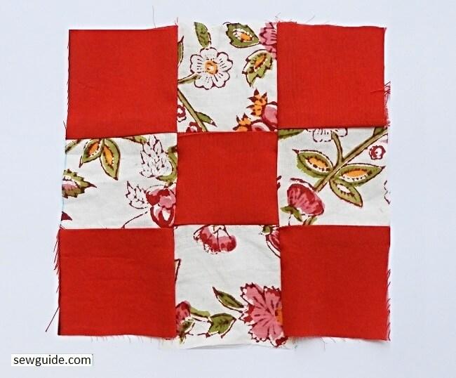 sew a nine patch block