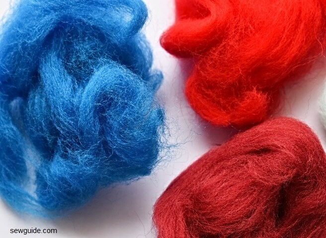 wool felted beads
