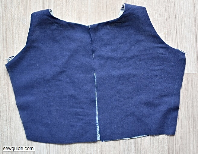 sewing a sleeveless bodice for a dress