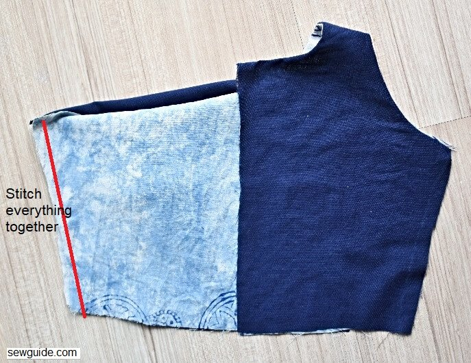 sew sleeveless bodice