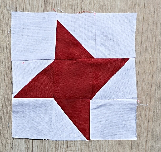 how to sew star patchwork block