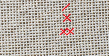needle point- cross stitch