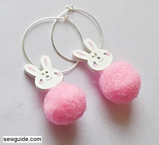 make button earrings