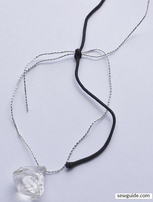 make cord bracelet with adjustable fastening