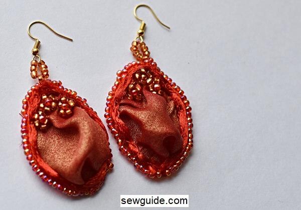 make fabric earrings
