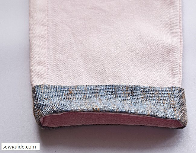 pant cuff sewing tutorial