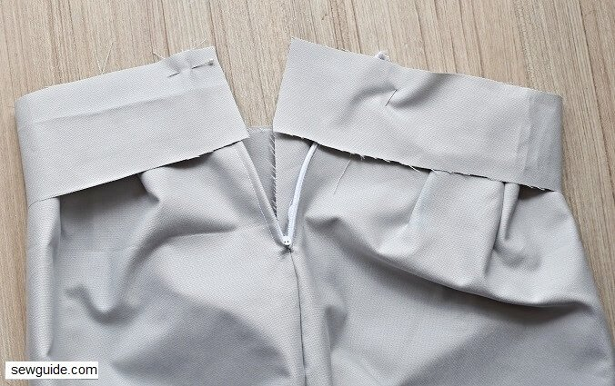 sewing a waistband for your skirt