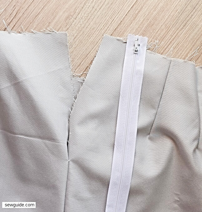 how to sew a waistband for skirt