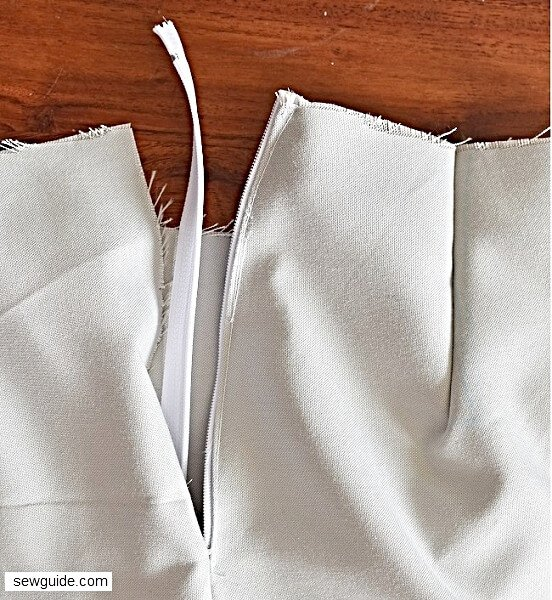 waistband for skirts - sewing tutorial