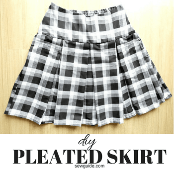 sew box pleated skirt with yoke