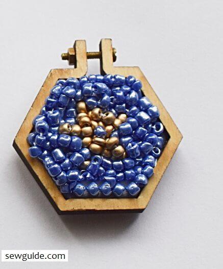 embroidered pendant frames