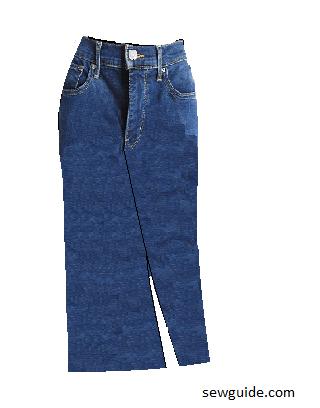make jeans skirts