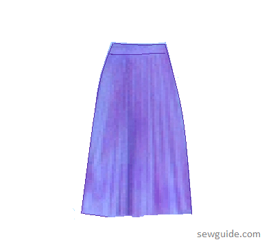 prepleated skirt