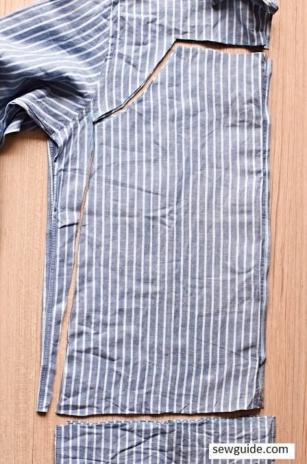 how to convert a shirt to top