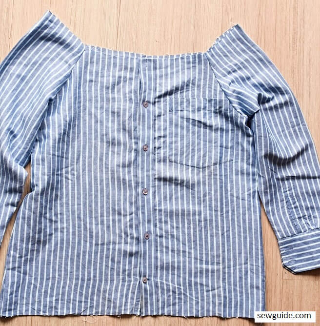 make a top from men's shirt