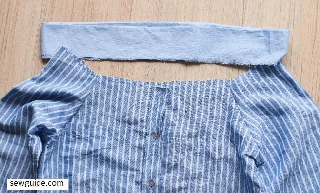 how to make a top from old shirt