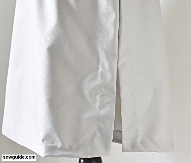 sew slits on a skirt