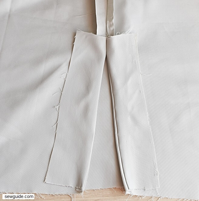 how to sew slits on skirts