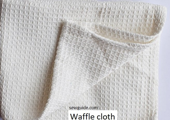 absorbent waffle cloth