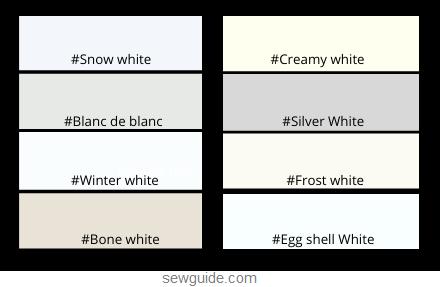 white colors in fashion