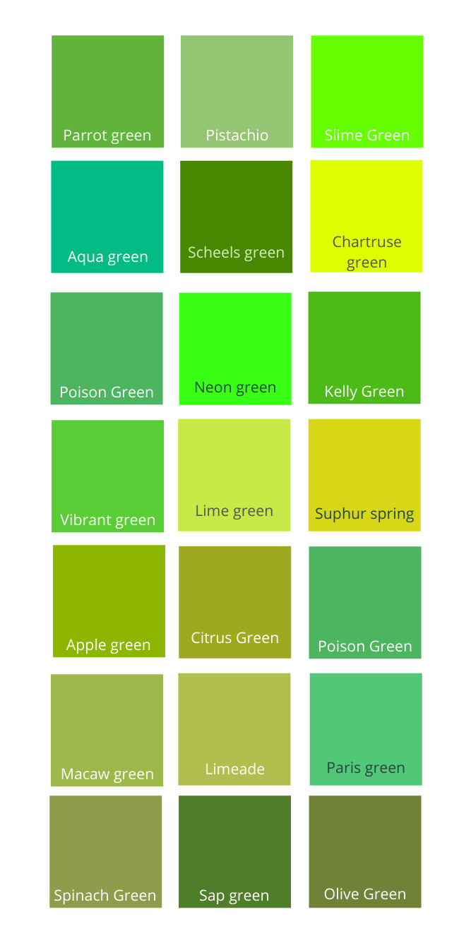 warm shades of green color