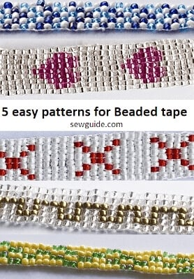 beaded tape designs