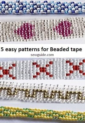 easy patterns for beaded tape
