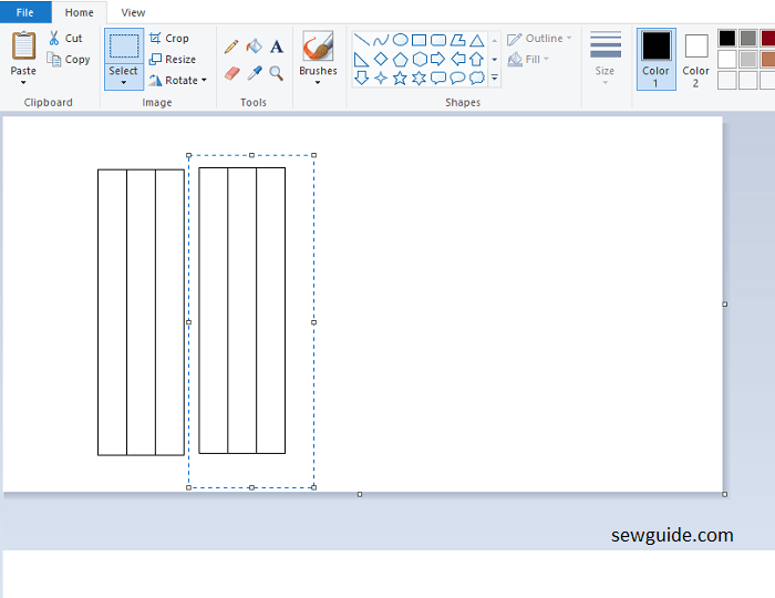 design patterns for beaded tape with mspaint