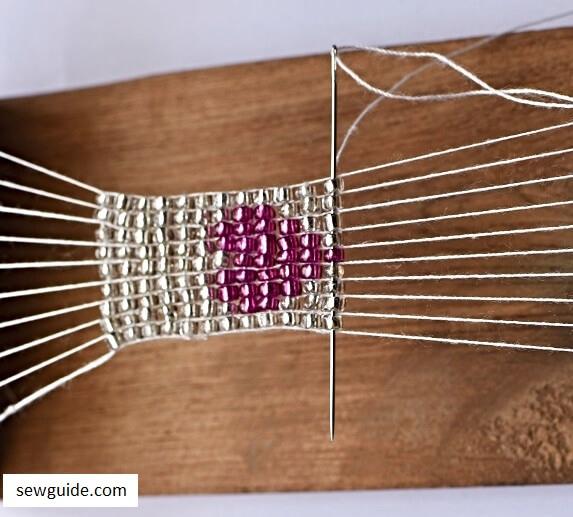 beaded tape trim in heart shape