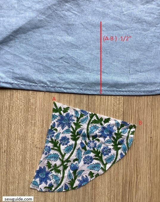sewing godets for adding flare