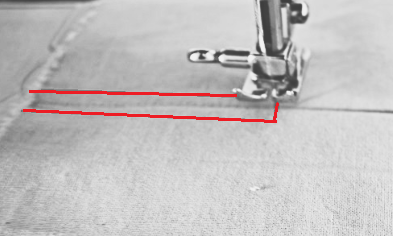 inverted pleat sewing