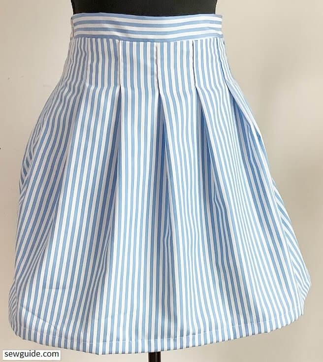sew tennis skirt 2