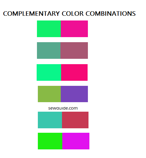 green complementary color schemes