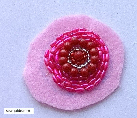 small beaded fabric patches for decoration