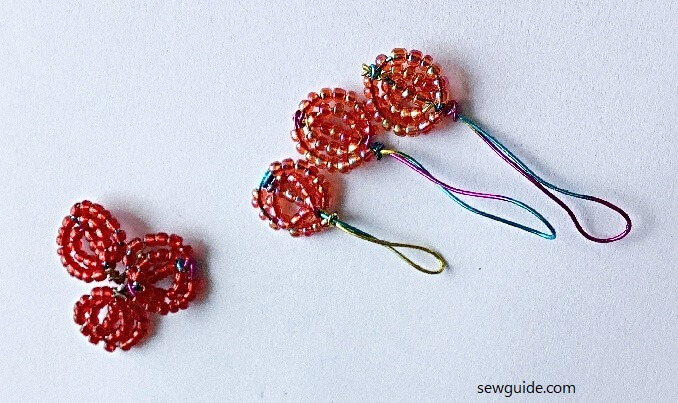 make clothing patches with beaded flowers