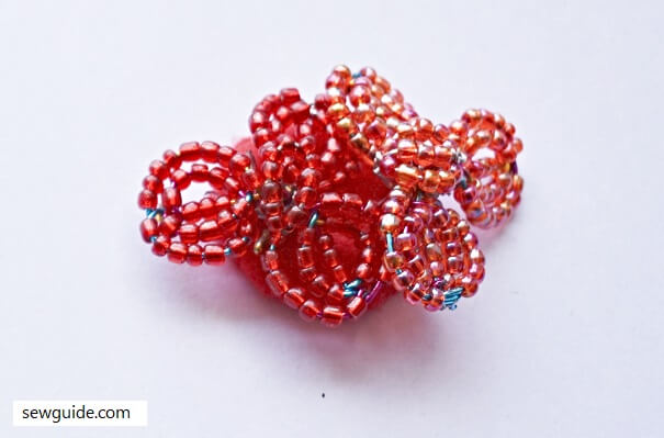 3d flower bead clothing patches