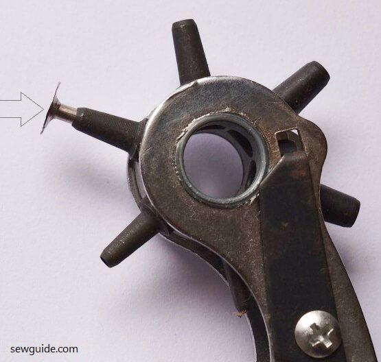 make hole for fixing rivets