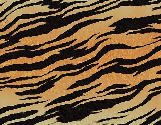 tiger animal prints in textiles