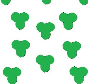 trefoil fabric pattern