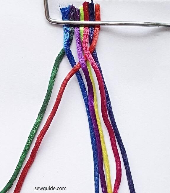 7 strand braid making tutorial