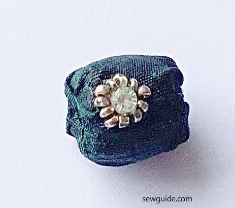 how to sew fabric beads