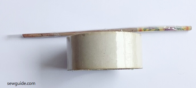 plastic stick for beads with fabric